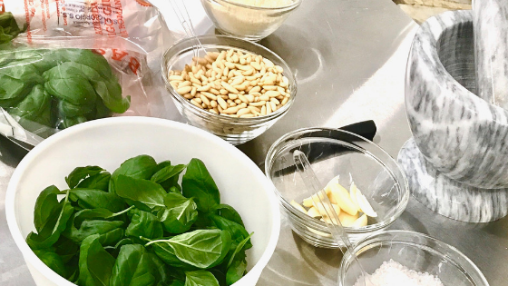 Ingredienti del Pesto Fresco alla Genovese