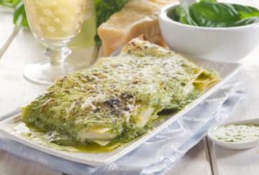 Pasta all'uovo con Pesto fresco alla Genovese