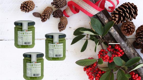 Il Pesto Fresco alla Genovese è un ottimo regalo di Natale da solo o in una confezione con altri prodotti