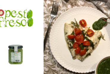 Filetto di orata al forno con Pesto Fresco Genovese