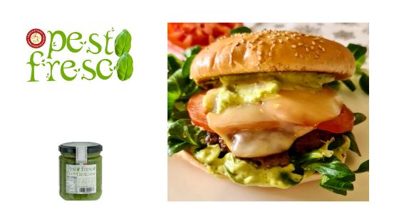 Cheese & Pesto Fresco Hamburger