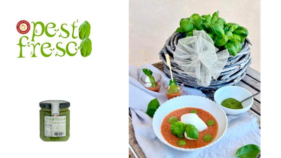 Gazpacho alla ligure con Pesto Fresco Genovese